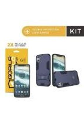 Kit Capa Armor e Película de Vidro Dupla para Motorola One - Gorila Shield