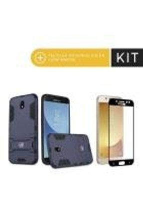 Kit Capa Armor e Peli´cula Coverage Preta para Galaxy J5 Pro - Gorila Shield