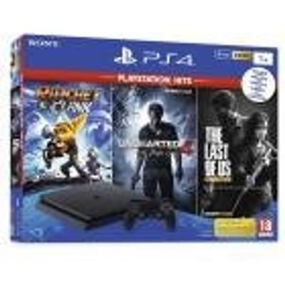 Console Playstation 4 Slim 1TB Bundle Hits Ratchet Clank, The Last Of Us, Uncharted 4 - Sony
