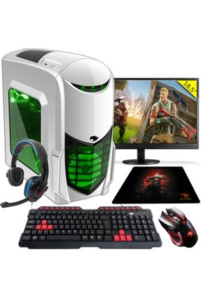 PC Gamer G-FIRE htg-308 AMD A6 7400K 8GB (Radeon R5 2GB Integrada) 1TB monitor 18,5 - Verde