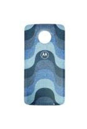Moto Snap Motorola Style Shell, Capa Traseira para Moto Z e Moto Z2, Tiles Azul