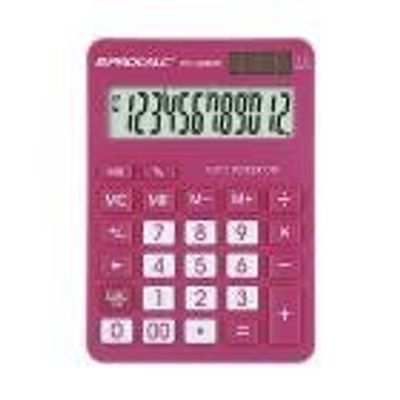 Calculadora de Mesa Procalc PC286 PK 12 Digitos PINK