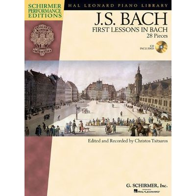 Schirmer Performance Editions - J. S. Bach First Lessons In Bach
