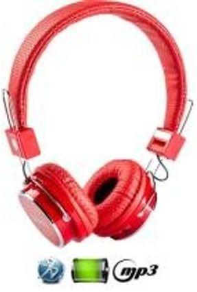 Fone De Ouvido Bluetooth Micro Sd Mp3 Rádio Fm Player B-05 - Vermelho