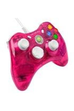 Xbox 360 - Controle com fio Rock Candy Rosa