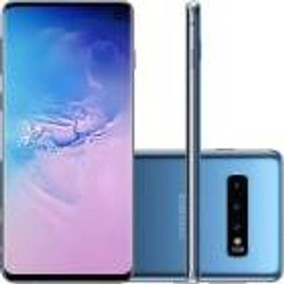 "Smartphone Samsung Galaxy S10 128GB, 8GB, Octa 2.7GHz+1.9GHz, Android 9.0, PowerShare, 6.1"", 12MP+12MP+16MP, 10MP Azul"