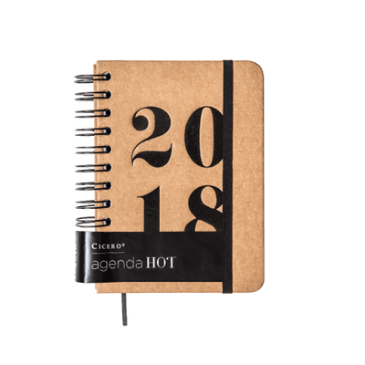 Agenda Diária Wire-O Cicero Hot Kraft - 2018