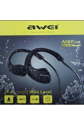 Fone de Ouvido Sem Fio Bluetooth A prova D'agua Sport Awaei A885 BL [Fone de Ouvido] [Sport] [Bluetooth] [Sem Fio] [Preto]