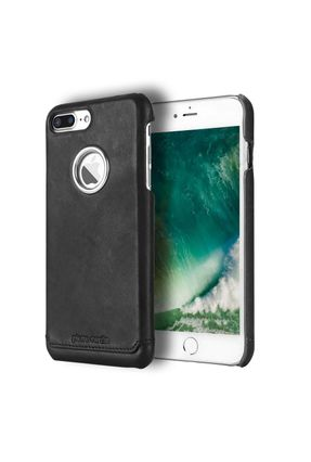 Capa Iphone 7/8 Plus Pierre Cardin Couro Legítimo com Película Premium 3D Tela Inteira