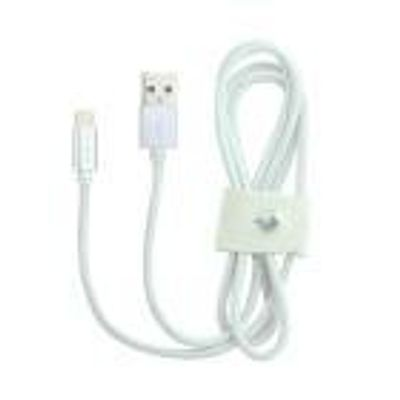 Cabo Para Iphone Lightning MFI Pierre Cardin 1M Fast Charger Branco
