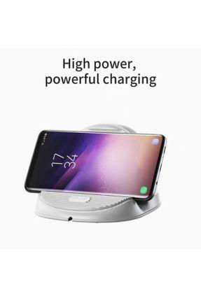 Carregador sem fio Por Indução Wireless Turbo Fast Charger 10W Qi Horizontal Desktop Baseus Branco