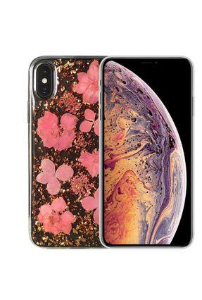 Capa iPhone X Xs Florida com Flores Naturais Verdadeiras X-Doria Design Único e Exclusivo Capa Anti Impacto