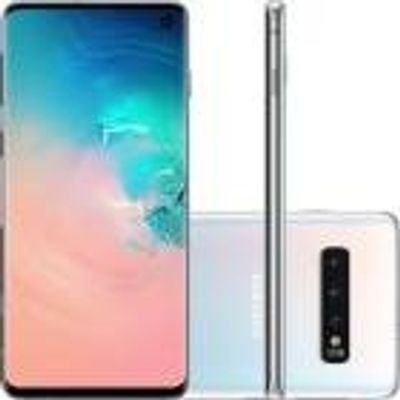 "Smartphone Samsung Galaxy S10 128GB, 8GB, Octa 2.7GHz+1.9GHz, Android 9.0, PowerShare, 6.1"", 12MP+12MP+16MP, 10MP Branco"