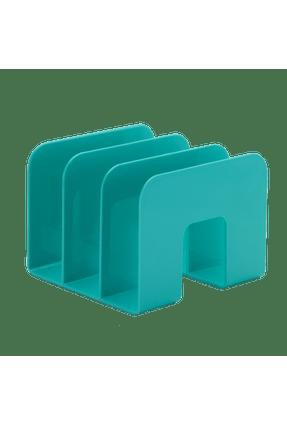 Organizador De Livros Standard Waleu Azul Claro