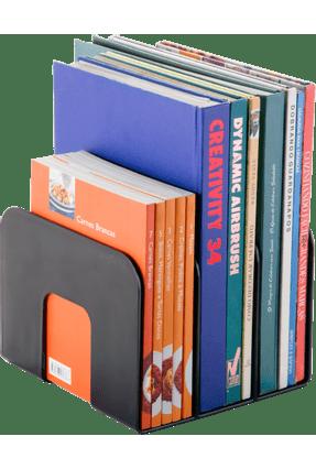 Organizador De Livros Standard Waleu Preto