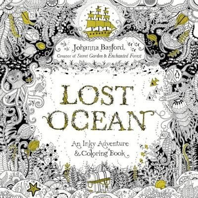 Lost Ocean - An Inky Adventure And Coloring Book For Adults