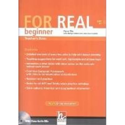 For Real Beginner Tb + 2 Class Audio Cds+ Testbuilder Cd Rom