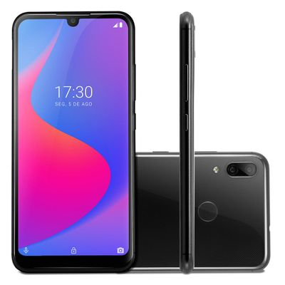 Smartphone Multilaser G Pro 4G 2GB+32GB LCD IPS 6,1 Pol. Android 9 Octa Core Preto - P9097