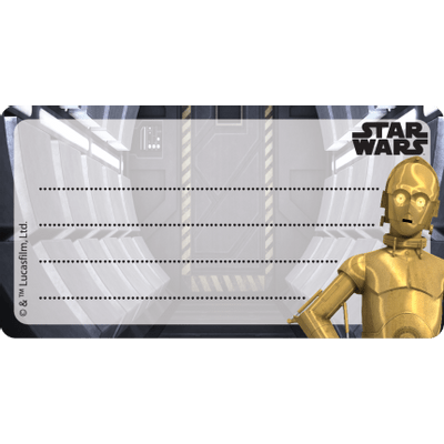 Etiqueta Identificação 45x85mm Star Wars Rebels Sortido
