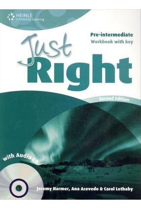 Just Right Pre-intermediate - Workbook With Key - With Audio CD - Harmer,Jeremy   Nisrs.org