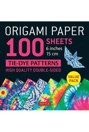 100 Sheets Double Sided Origami Paper 6 x 6 inch in 7 Colours