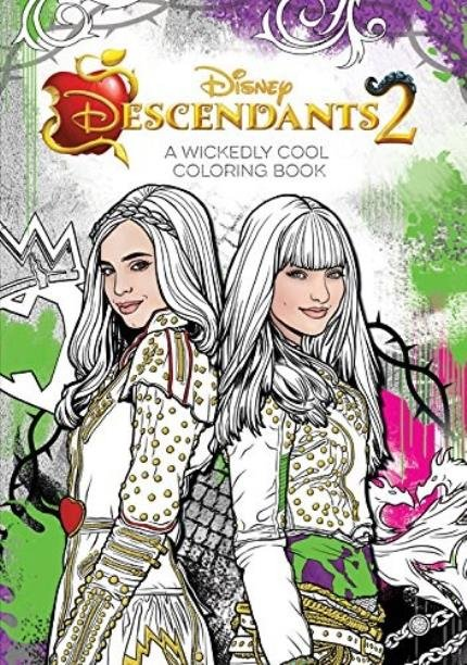Descendants 2 A Wickedly Cool Coloring Book Saraiva