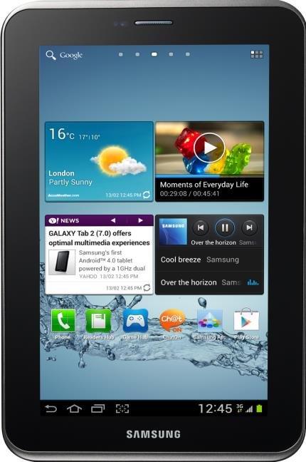 "Usado -Tablet Samsung Galaxy Tab 2 7.0"" P3100 Prata Wi-Fi 3G, Android 4.0, 16Gb, Bluetooth, Câmera 3.2 MP"