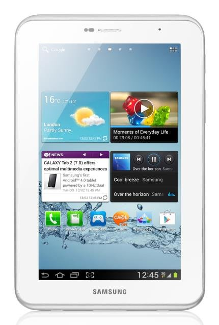 "Usado -Tablet Samsung Galaxy Tab 2 7.0"" P3100 Branco Wi-Fi 3G C/ Android 4.0, 16Gb, Bluetooth, Câmera 3.2"