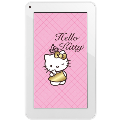 "Usado -Tablet DL Hello Kitty Tp256bra Branco Tela 7"" Wi-Fi, Android 4.4, 4Gb, Cortex A9 1.2Ghz, 2 Câmeras"