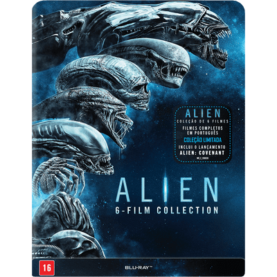 Blu-Ray Coleção Alien - 6-Film Collection - Steelbook - 6 Discos