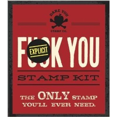 Fuck You Stamp Kit - A Little Seedling Edition