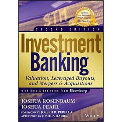 Investment Banking - Valuation Leveraged Buyouts And Mergers And Acquisitions 2nd Edition
