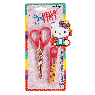 Tesoura Hello Kitty Com 1 Unidade