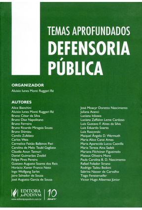 Temas Aprofundados da Defensoria Pública - Ré,Aluísio Iunes Monti Ruggeri pdf epub