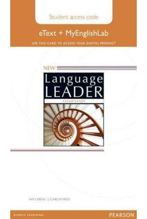 New Language Leader- Elementary - Students' Etext Course Book With Myenglishlab - David Cotton David Falvey Simon Kent | Nisrs.org