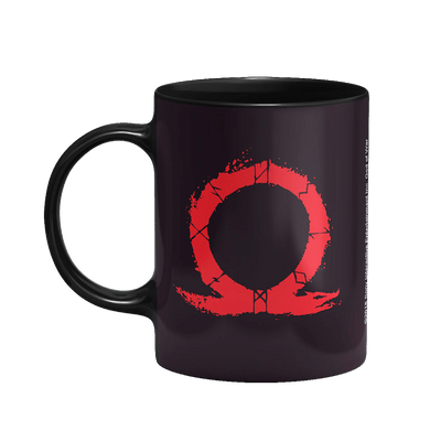 Caneca God Of War Omega Cor Preto 325 ml Licenciado Sony