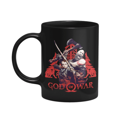 Caneca God Of War Lobos Cor Preto 325 ml Licenciado Sony