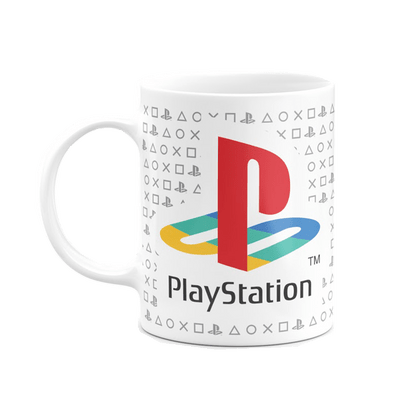 Caneca Playstation Play Classic Cor Branco 325 ml Licenciado Sony