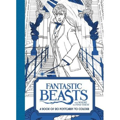 Fantastic Beasts And Where To Find Them - A Book Of 20 Postcards To Colour