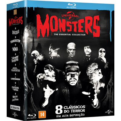 Blu-Ray Monsters - 8 Clássicos do Terror - The Essential Collection - 8 Discos