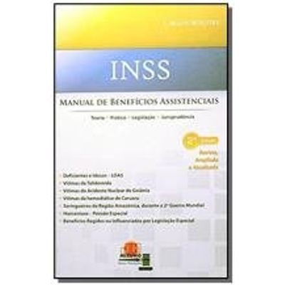 INSS MANUAL DE BENEFICIOS ASSISTENCIAIS