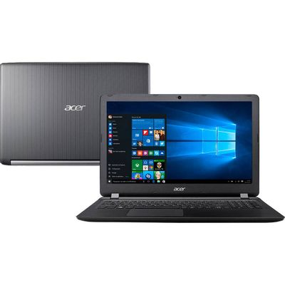 "Notebook Acer A515-51-51UX Intel Core i5-7200U 8GB RAM 1TB HD 15.6"" HD Windows 10 - Preto"