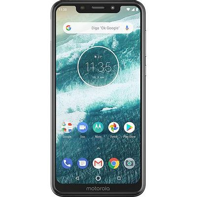 "Smartphone Motorola Moto One 64GB 4G Tela 5,9"" Câmera 13MP Selfie 8MP Dual Chip Android 8.1 - Branco"
