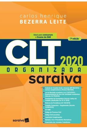 CLT Organizada - Saraiva