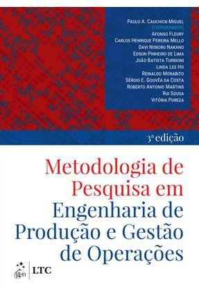 Metodologia De Pesquisa Em Engenharia De Produção E Gestão De Operações - Cauchick,Paulo | Hoshan.org
