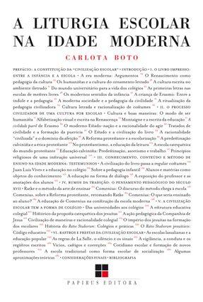 A Liturgia Escolar na Idade Moderna - Boto,Carlota | Hoshan.org