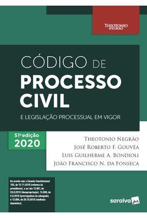 Código De Processo Civil e Legislação Processual Em Vigor - 51ª Edição 2020 -  pdf epub