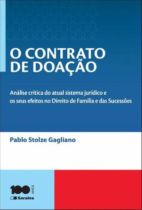 O Contrato de Doação - 4ª Ed. 2014 - Gagliano,Pablo Stolze | Hoshan.org
