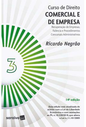 Curso De Direito Comercial e De Empresa - Vol. 3 - 14ª Ed. 2020