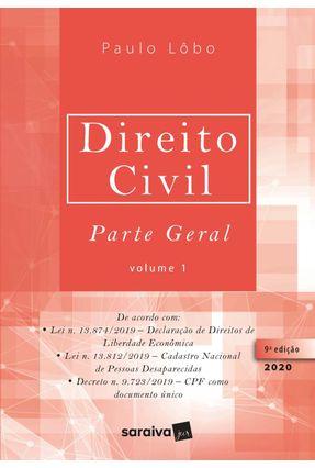 Direito Civil Parte Geral - Vol. 1 - 9ª Ed. 2020 -  pdf epub
